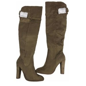 🍒 NEW! CHARLOTTE RUSSE Over knee microsuede boots